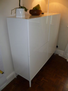 Ikea white high gloss sideboard cabinet good used for White gloss sideboards at ikea